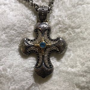 Exquisite Konstantino Cross with intricate chain